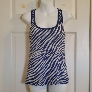 Blue and white tank top.  XXI size S
